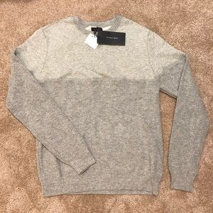 NWT Zara Men's Gray Crew Neck Sweater